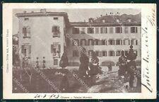 Bergamo Clusone Palazzo Marinoni PIEGHINA cartolina QT0747