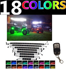 16pc Piece MILLION COLOR LED UNDER GLOW GOLF CART LIGHT KIT NEON With Remote