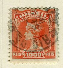 BRAZIL; 1906 early Portraits issue fine used 1000r. value