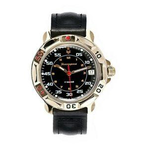 VOSTOK Russian Commander's Black Mechanical Wristwatch Komandirskie 2414/819179