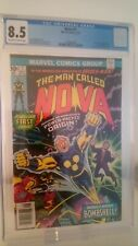 NOVA # 1  CGC 8.5 VF+  KEY 1ST APPEARANCE & ORIGIN ISSUE  CENTS 1976