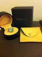 Stunning Bvlgari Blue Topaz and white gold Cocktail Ring