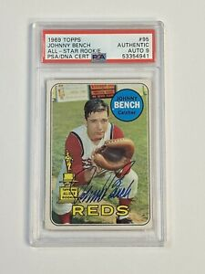 1969 Topps JOHNNY BENCH #95 Signed Autograph PSA/DNA Rookie Cup
