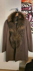Liu jo Wool Coat Jacket Fur Collar