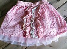 BEETLEJUICE LONDON Boutique girls tutu skirt 4 polka dots pink ruffles twirl