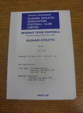 02/03/1994 Oldham Athletic reservas V Port Vale reservas (cuatro páginas). estamos