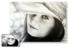 CUSTOM graphite pencil PORTRAIT -size  A4 - hand drawn portrait from your photo