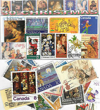 CHARITY STAMP PACKET CHRISTMAS 30 USED STAMPS 0307