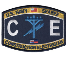 "4.5"" Navy Ce Construction Electrician Embroidered Patch"