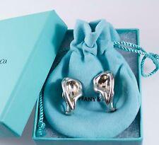 Rare Tiffany &Co Picasso Peretti Silver Calla Lily Flowers Clip On Earrings