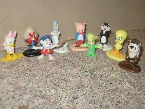 Looney Tunes 1987 Arbys Toys Lot of 6 Rare Vintage Bugs Bunny Sylvester Tweety