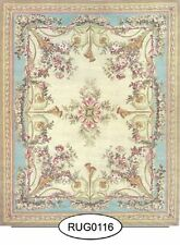 Dollhouse Miniature French Aubusson Savonnerie Rug Medium