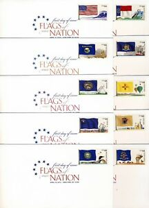US 2010 Flags of our Nation (4303-12) .  DCP Cancel . 10 USPS First Day Covers