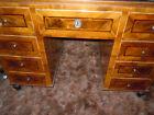 Wonderful 9 Drawer Inlay Wooden Desk from Prague, Czech Republic.  HAND MADE!
