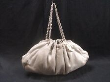 Authentic CHANEL Light Gray Melrose Cabas Cotton Shoulder Bag