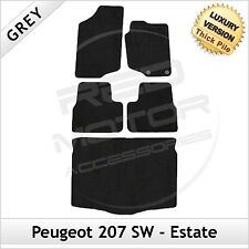 PEUGEOT 207 SW ESTATE 2006-2012 su misura Lux 1300g TAPPETI auto e le stuoie di avvio Grigio