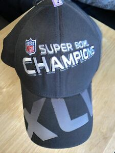 Green Bay Packers Hat  NFL Super Bowl XLV Champions Reebok Black Cap 2011