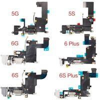 OEM SPEC Charging Port Charger Dock Mic Flex For iPhone 6 6S 7 8 XR + Plus Black