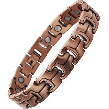 Womens 19 Magnets 3500 Gauss Copper Bracelet Stress Anxiety Arthritis Relief