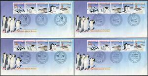 1988 AAT Environment Conservation & Technology Set Of 4 Base Cancel FDCs, MC