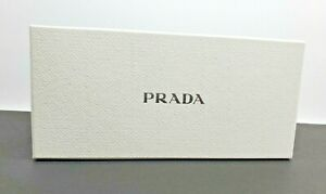 Prada White Sunglasses Eyeglasses Case Large Storage Box New With Insert