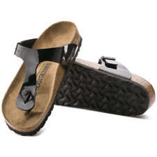 Birkenstock Gizeh Sandals - Black Patent - Made In Germany