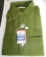 NOS 50's-60's SANDY MACDONALD Green Wool Blend! Camp Loop Collar! ROCKABILLY L