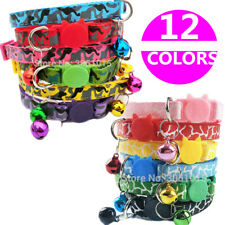 x12 Bundle Safe Kitten Collar Bell Cat Necklace Quick Release Buckle Pet Kitty