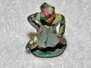 """BARCLAY FIGURE """"LADY  WITH DOG 3 """" TALL  PAINTED ORIG."""