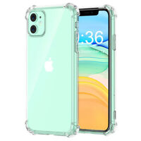 For iPhone 11 Clear Hard Bumper Slim Fit Shockproof Protective Phone Case Cover