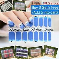 BUY 3 Get 2 Nail Polish Art-Nail Stickers - Manicure Pedicure Wraps Strips