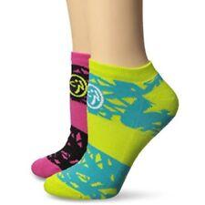 Zumba Socken 2er Set,kräfitigen Farben,Sneaker, Socks für Fitness, compression