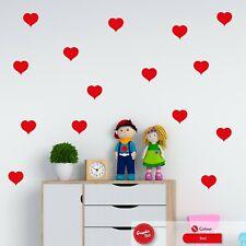Heart Wall Stickers Kids Nursery Love Hearts Children Bedroom Vinyl Decal
