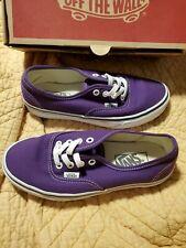 VANS Women's Authentic Purple Petunia White  Low Top Sneakers Shoes 6.5