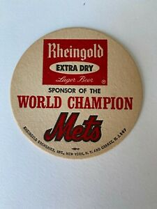 (2) 1969 World Series Champion New York Mets Rheingold Drink Coasters
