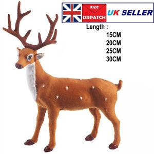 Christmas Standing Plush Reindeer Toys Xmas Elk Home Decor Ornament Kids Gift