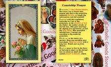 Virgin Mary /Front -Courtship Prayer /back - Laminated Holy Card