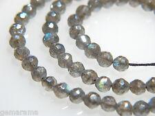 """Premium Mystic Fire Labradorite Genuine Gemstones Faceted Round Beads 4mm - 6.5"""""""