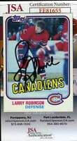 Larry Robinson JSA Coa Autograph 1981 Topps Hand Signed