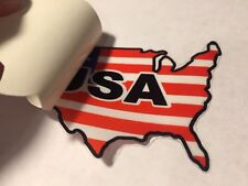 Flag USA United States Inside Window Application Sticker Decal NEW