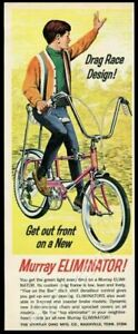 1967 Murray Eliminator boy's pink bike bicycle vintage print ad