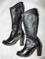 Women's Dr. Martens Ava Heeled Leather Biker Boots Size 6 US