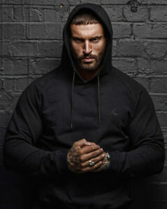 New Men's Black Hooded Jumper Gym Casual Sweater Medium Large , XL sports hoodie