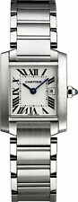Cartier Stainless Steel Band Unisex Wristwatches