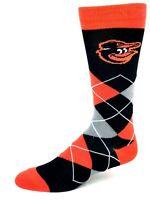 For Bare Feet Baltimore Orioles Argyle Crew Dress Socks