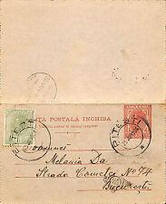 PHILATELIE ROUMANIE ROMANIA CARTE LETTRE CARTA POSTALA ENTIER POSTAL 1906