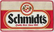"Schmidt's Beer large embroidered patch MINT 11"" x 6 1/4"" Philadelphia"