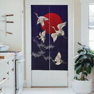 Japanese Noren Door Curtain Doorway Tapestry Room Divider Cotton Window Hanging