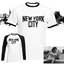 NEW York City Classic Ringer T-Shirt Retro John Lennon Top Musik vorstellen, Achtziger