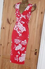 Phase Eight stretchy floral print pencil wiggle party cocktail evening dress 14